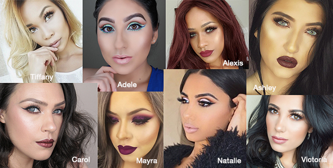 Browse through makeup styles from popular artists. Try on the looks that you love, in real time! Get how-to and see artists' recommended products.